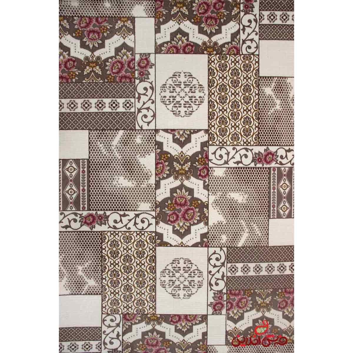 فرش ماشینی ساوین کد 1508 صورتی