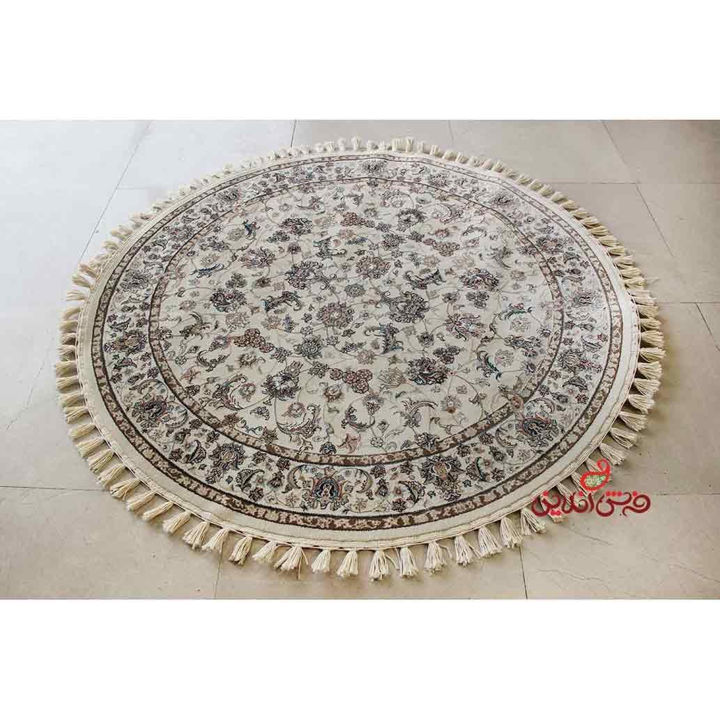 فرش گرد پاتریس طرح افشان اصفهان کرم