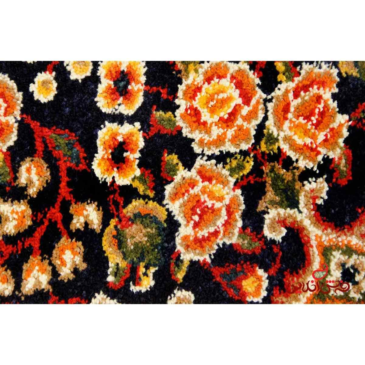 فرش ساوین طرح افشار سرمه ای