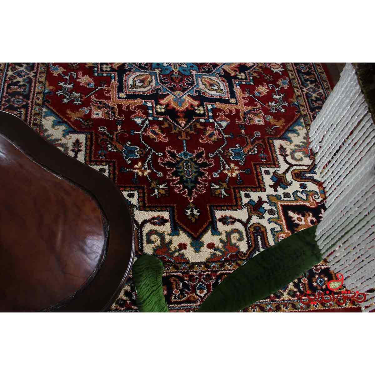 فرش ماشینی  ساوین طرح هریس لاکی