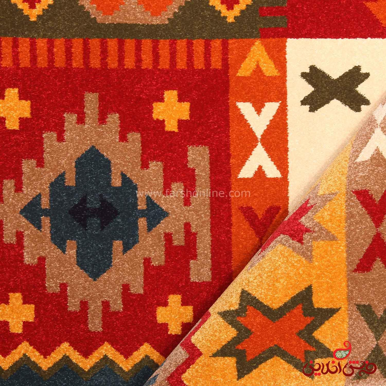 فرش ماشینی ساوین طرح کوکب لاکی