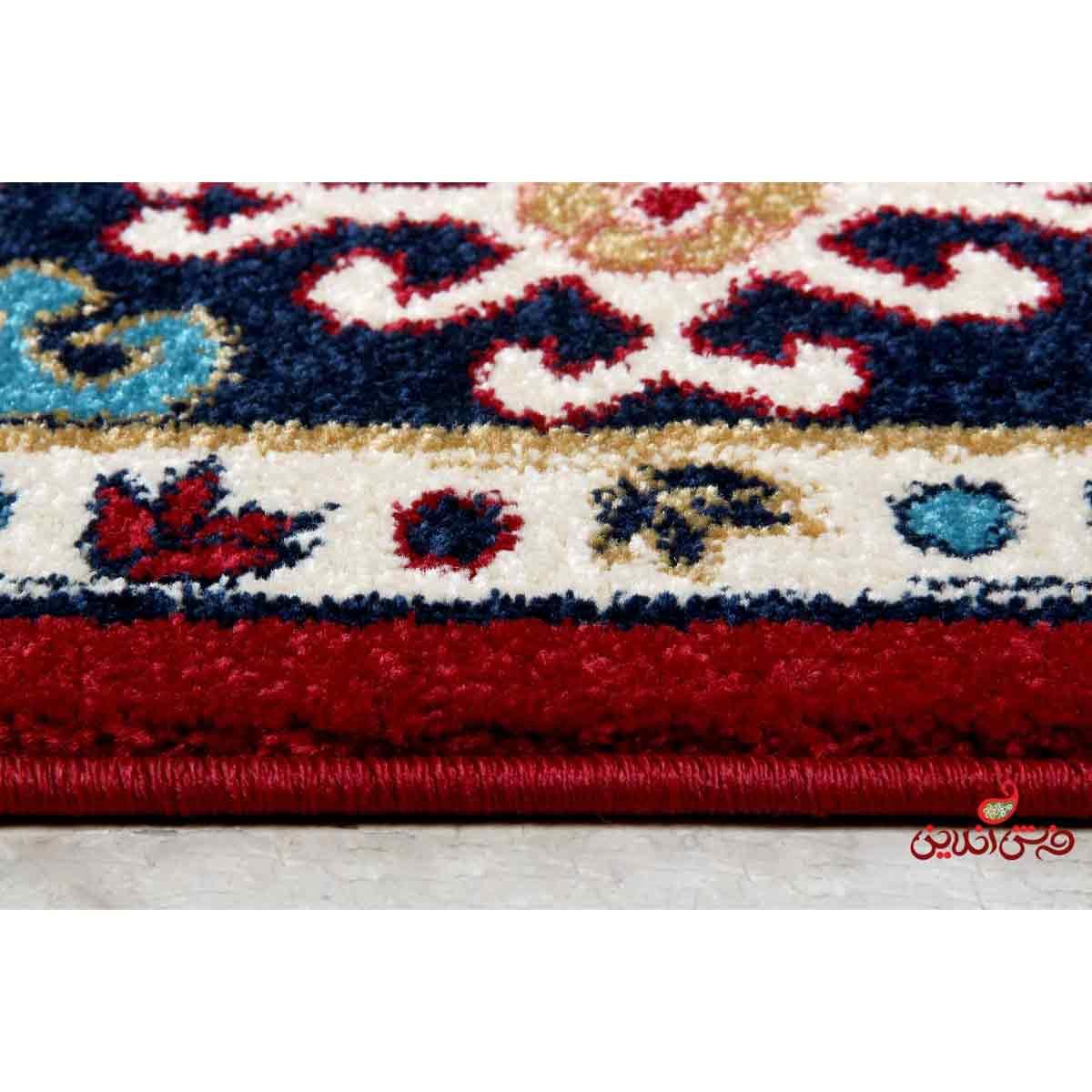 فرش  ماشینی ساوین طرح قشقایی لاکی