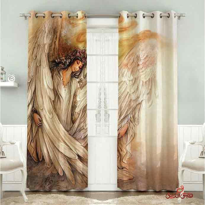 پرده 2عددی مدرن طرح فرشته کد 2807