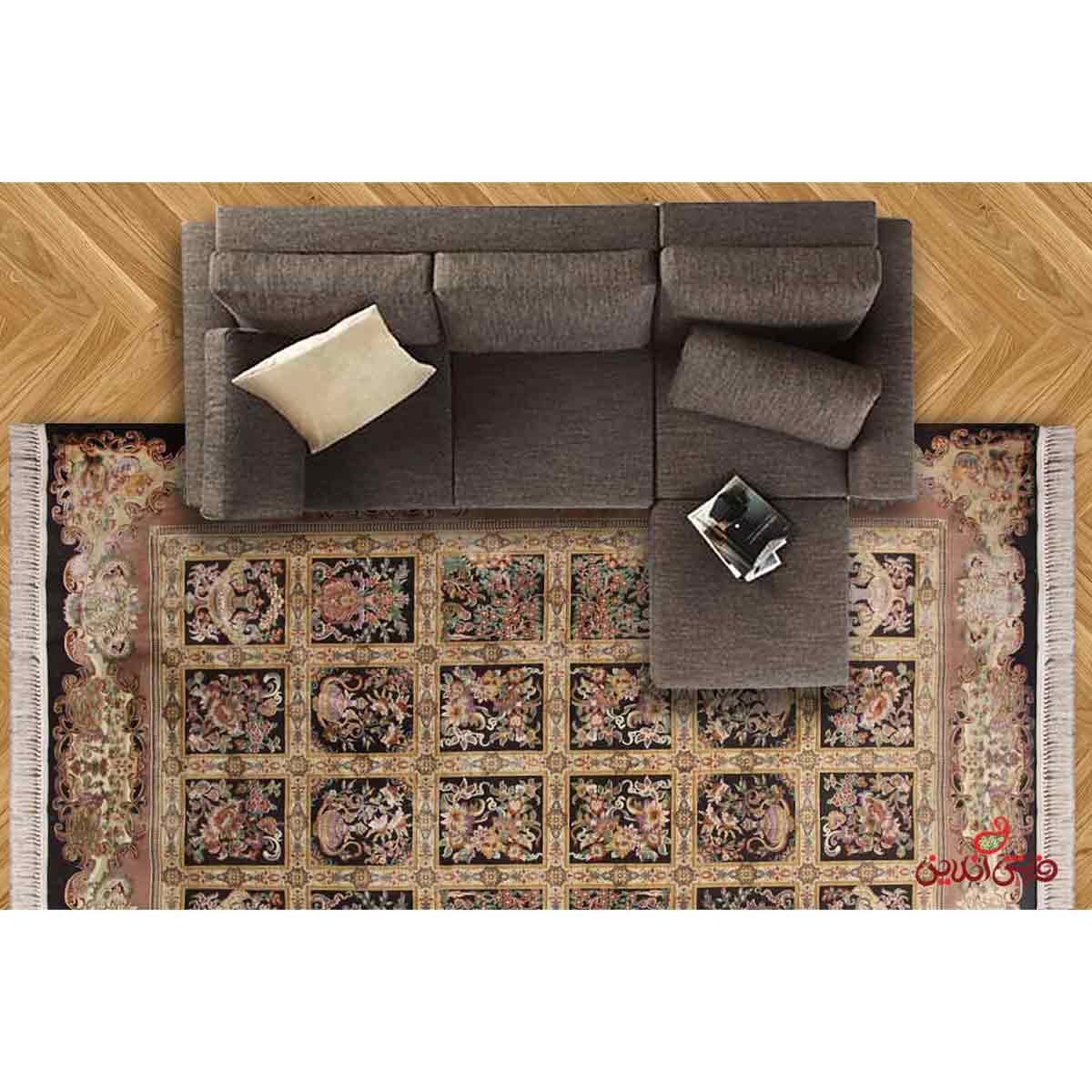 فرش ماشینی عرش  طرح ماندگار قهوه ای