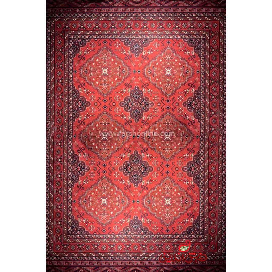 فرش ماشینی شاهکار صفویه 4444 قرمز
