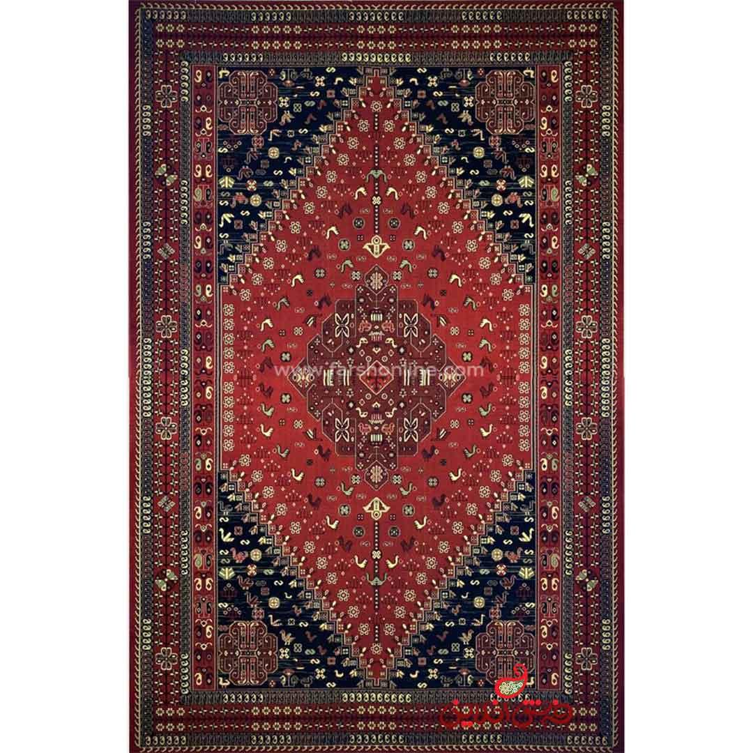 فرش ماشینی شاهکار صفویه 4860 قرمز