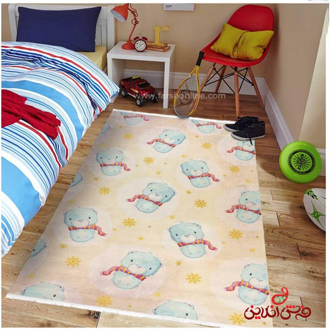 فرش ماشینی کودک کلاریس طرح انیمیشن خرس کد 100271