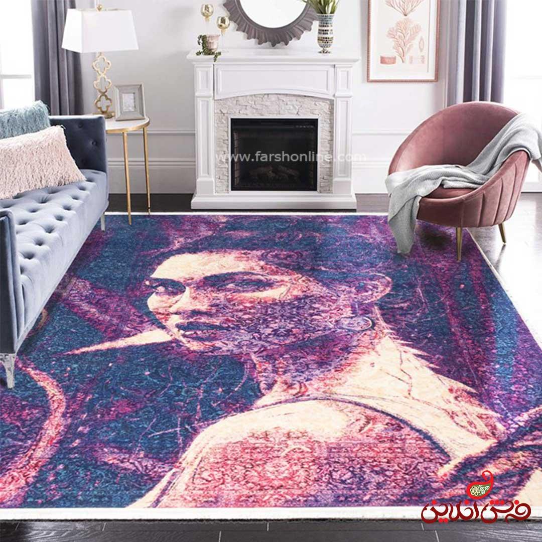 فرش ماشینی  کلاریس  کد 100414