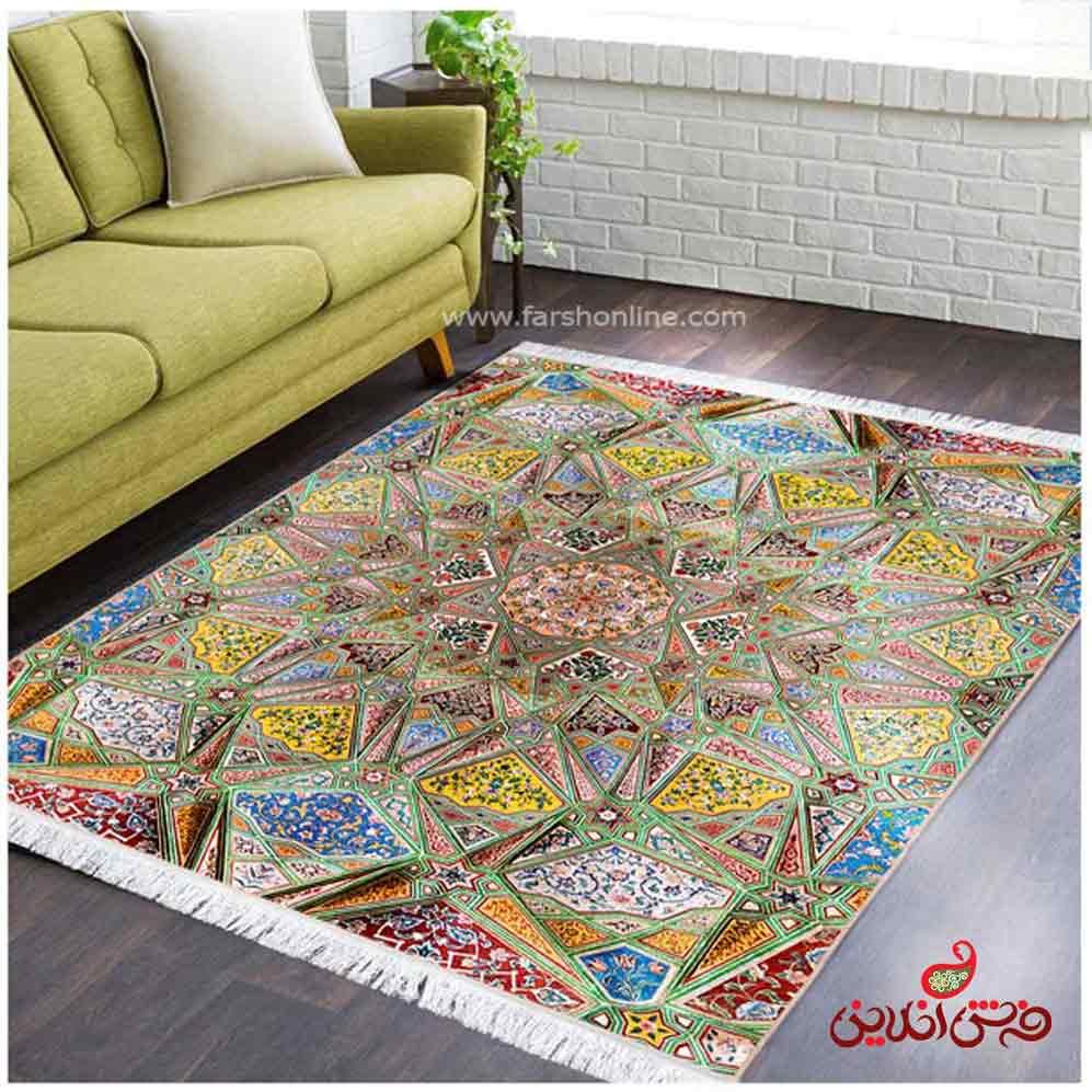فرش ماشینی  کلاریس  کد 100481