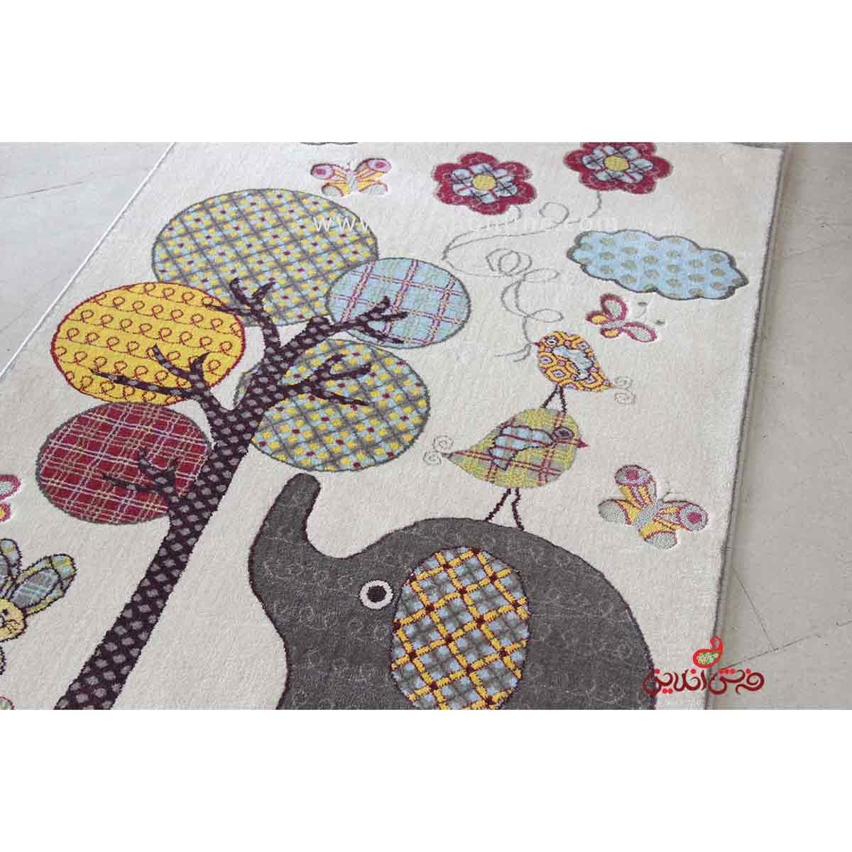فرش کودک پاتریس طرح درخت آرزو