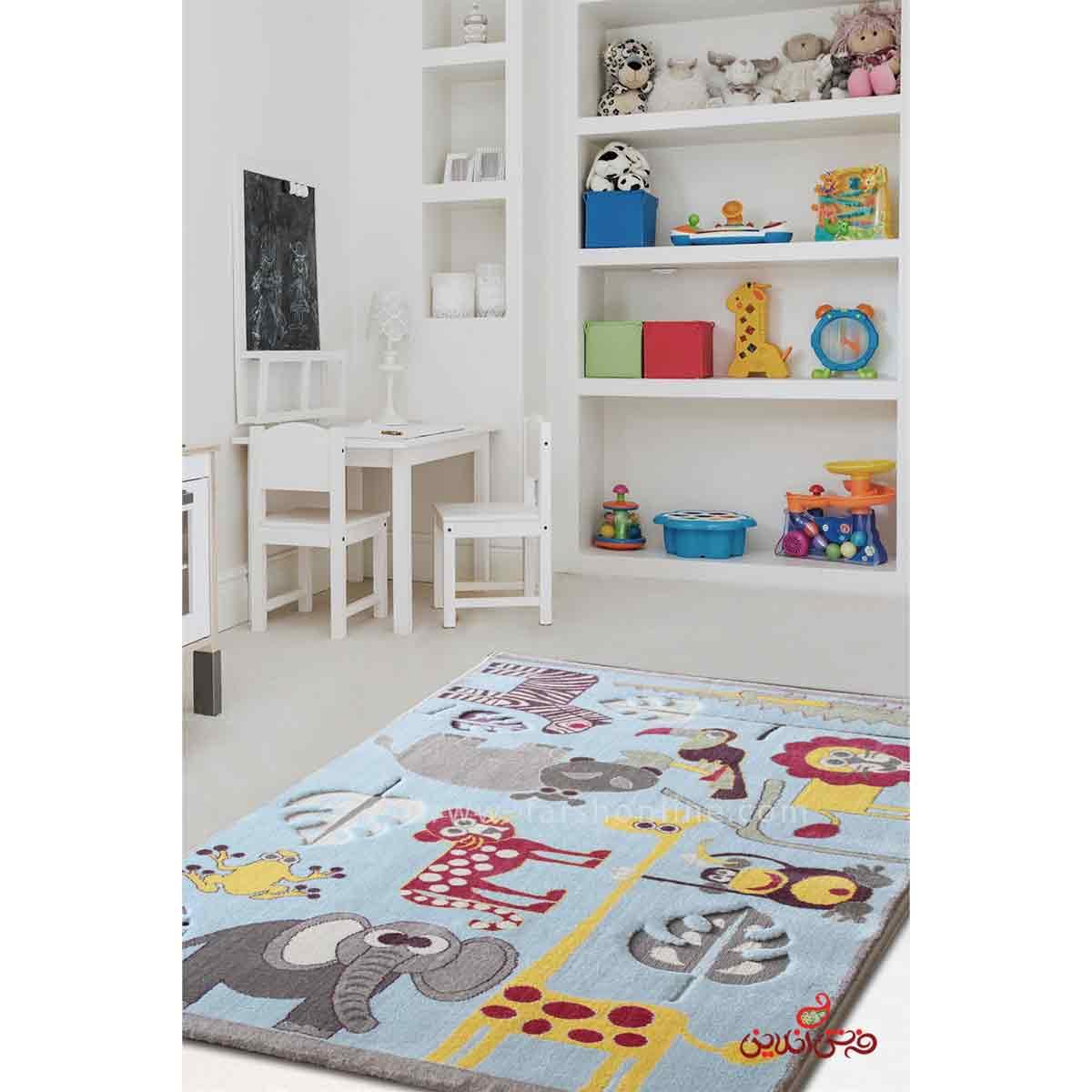 فرش کودک پاتریس طرح باغ حیوانات