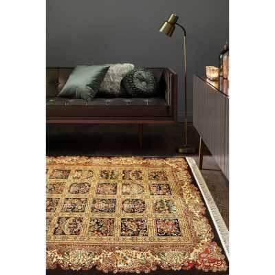 فرش ماشینی عرش طرح ماندگار مشکی