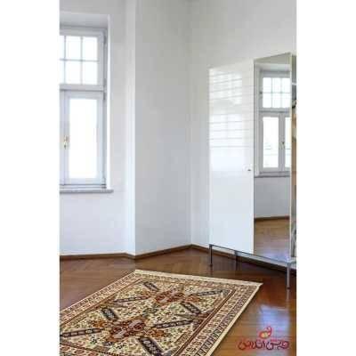 فرش ماشینی عرش طرح گیسو کرم