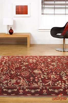 فرش ماشینی عرش طرح بهراد قرمز