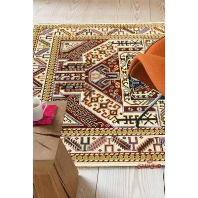 فرش ماشینی عرش طرح آلما کرم