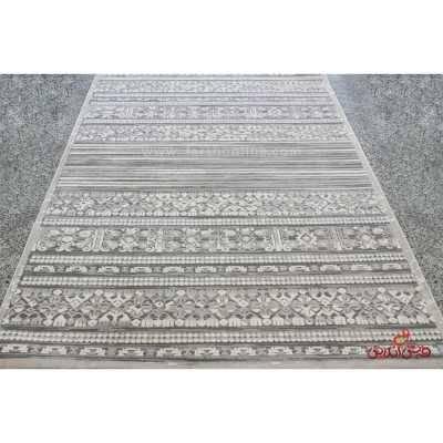 فرش ماشینی آرمانی کلکسیون حسنا کد 2022 طوسی