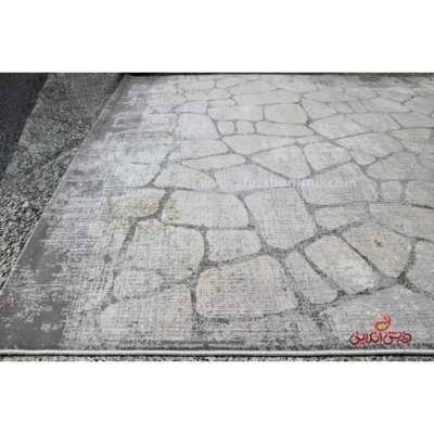 فرش ماشینی آرمانی کلکسیون حسنا کد 2009 طوسی