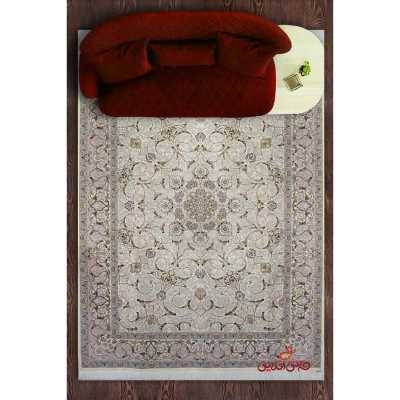 فرش مشهد اردهال طرح خطیبی A13 کرم