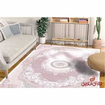 فرش ماشینی کلاریس کلکسیون کلاسیک کد 100102گلبهی