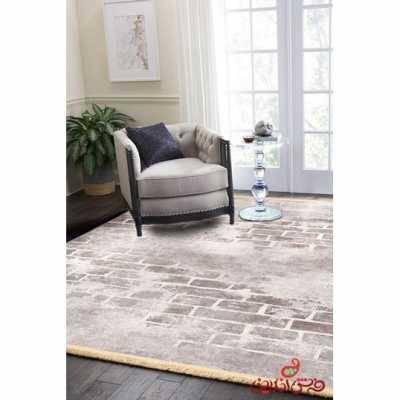 فرش ماشینی کلاریس کلکسیون مدرن کد  100410طوسی