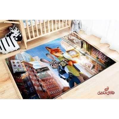 فرش ماشینی کودک کلاریس طرح زوتوپیا کد 100242