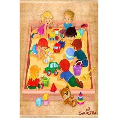 فرش ماشینی کودک کلاریس طرح بازی کودکان کد 100246