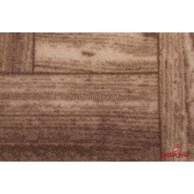 موکت ظریف مصور چاپی طرح افرا قهوه ای