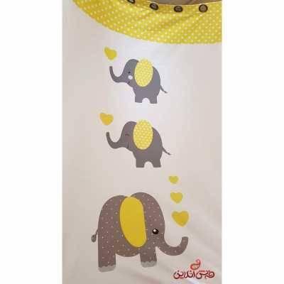 پرده 2عددی کودک طرح فیل ها کد 2365