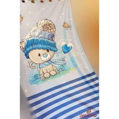 پرده 2عددی کودک طرح فصل زمستان کد 2334