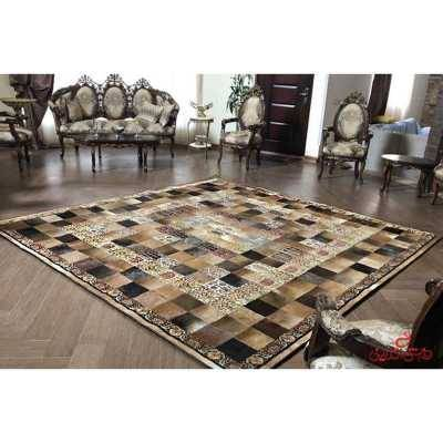 فرش پوست و چرم مربع 2258