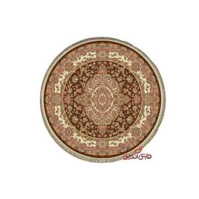 فرش گرد کرامتیان طرح رویال گلبهی