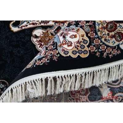 فرش ماشینی ممتاز طرح الی سرمه ای
