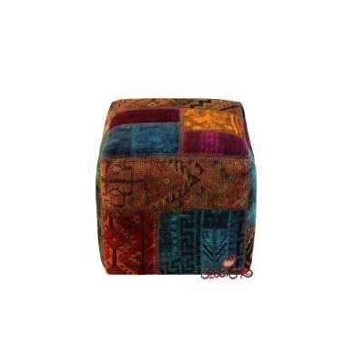 صندلی مربع کلاژ دستباف کد 817