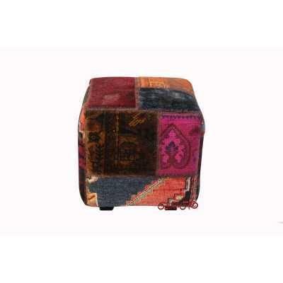 صندلی مربع کلاژگلیم دستباف کد 899
