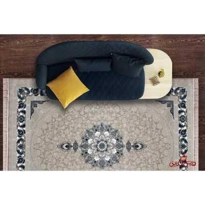 فرش ماشینی خاطره کاشان کد 103کرم