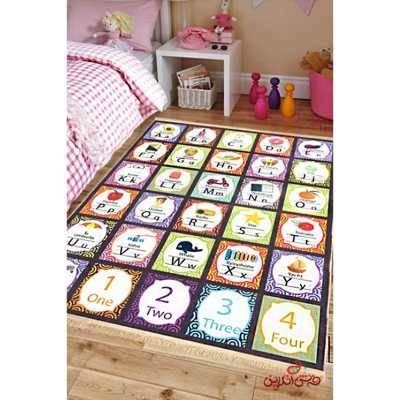 فرش ماشینی کودک کلاریس طرح الفبای انگلیسی کد 100245