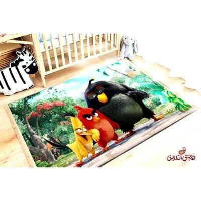 فرش ماشینی کودک کلاریس کد 100226 Angry birds