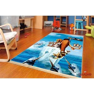 فرش ماشینی کودک کلاریس عصر یخبندان کد 100218