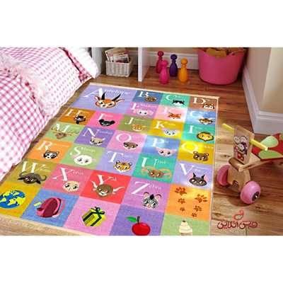 فرش ماشینی کودک کلاریس طرح حروف انگلیسی کد 100210