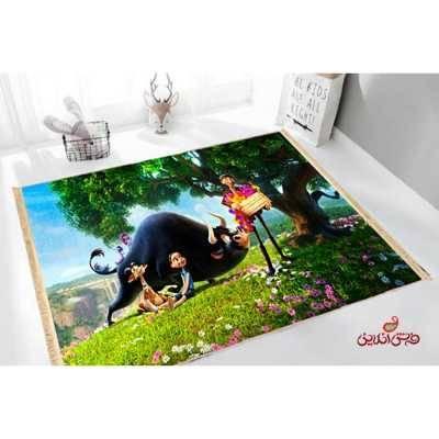فرش ماشینی کودک کلاریس طرح فردیناند کد 100228