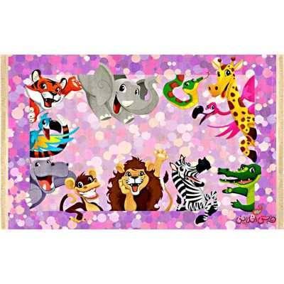 فرش ماشینی کودک کلاریس طرح حیوانات کد 100208