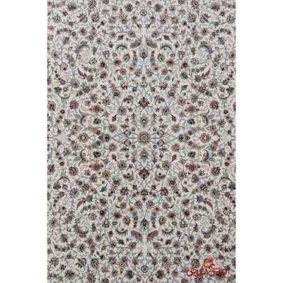 فرش ماشینی هایبالک برلیان طرح افشان گل ریزکرم