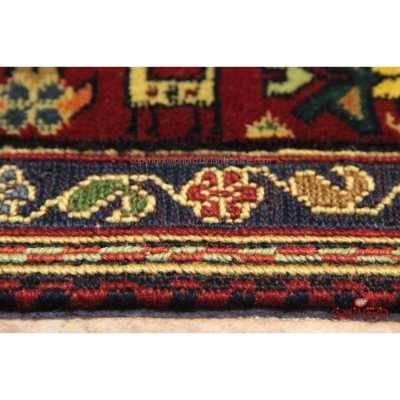 فرش دستباف خراسان گل ابریشم لاکی کد 106547