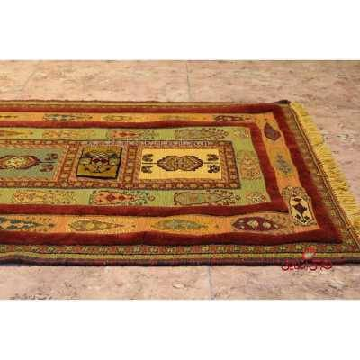گلیم فرش دستباف سیرجان نارنجی لاکی کد 106716