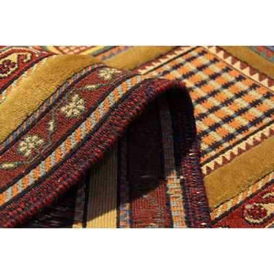 گلیم فرش دستباف سیرجان طلایی کد 105355