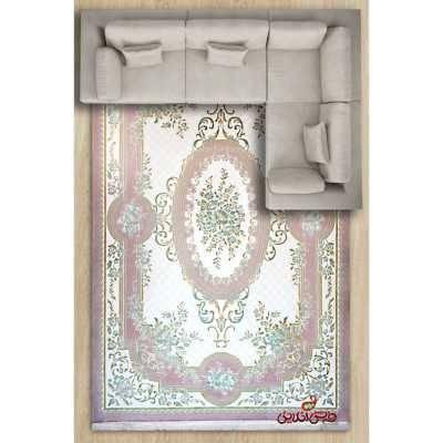 فرش ماشینی کاسپین کد 1038ویولت