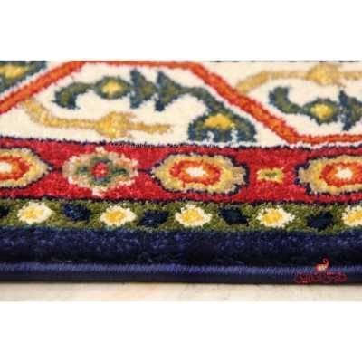 فرش ماشینی ساوین طرح بهرخ سرمه ای