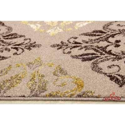 فرش ماشینی  ساوین طرح کرانه شکلاتی