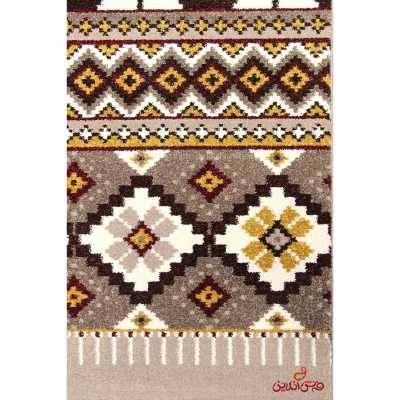 فرش ماشینی ساوین طرح پرستو شکلاتی