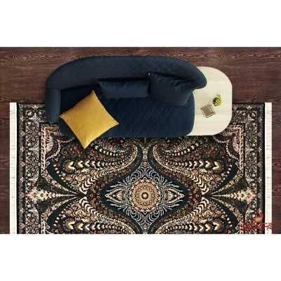 فرش ماشینی توس مشهد طرح پریاس سرمه ای